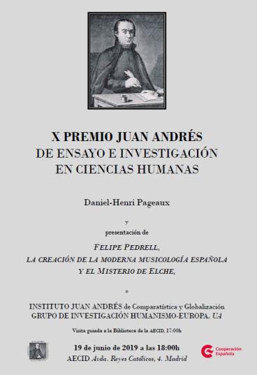 X PREMIO JUAN ANDRÉS
