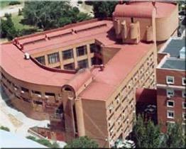Vista aérea del edificio actual de la Biblioteca